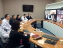 我院与台湾林口长庚医院举行远程视频会议