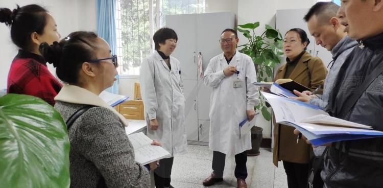 集团彭山医院药剂科到省医院药学部参观学习