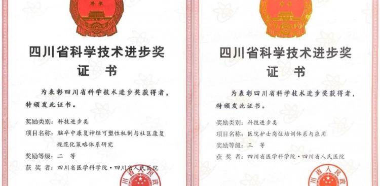 我院两项科技成果荣获2019年度四川省科技进步奖