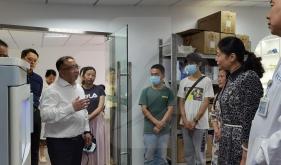 乐山职业技术学院到我院医学3D打印中心参观交流