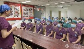 """手术室党支部开展""""讲党史、迎国庆""""主题党日活动"""